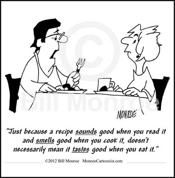 Cartoon about cooking